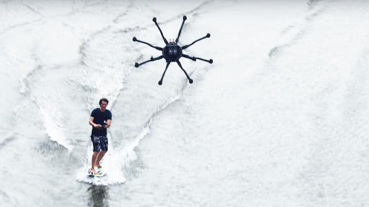 空撮用の機体で「ドローンサーフィン」しちゃいました!