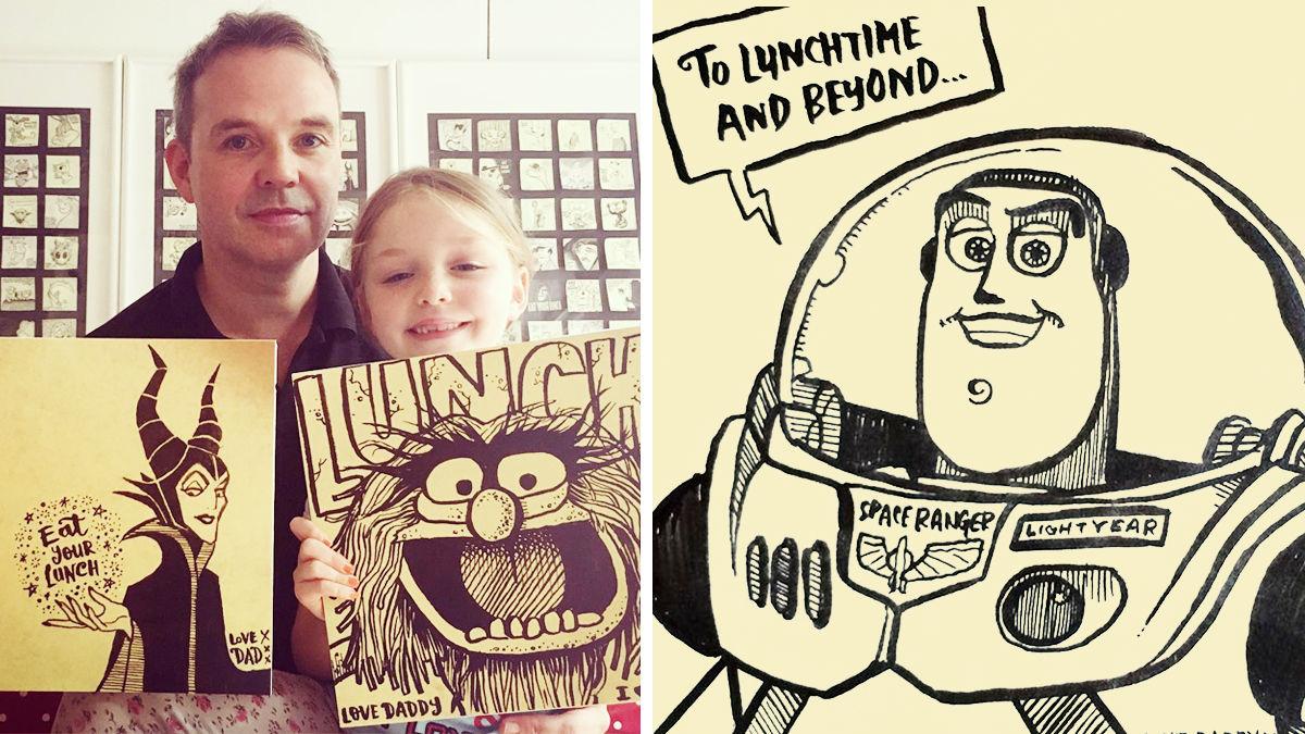 3年間、パパが娘に描き続けた「お弁当食べてね」イラストが最高!