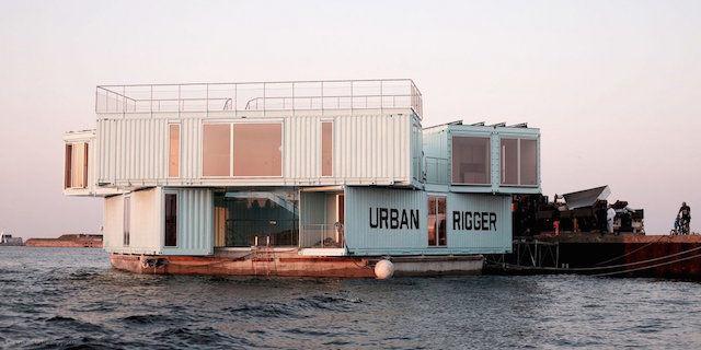 水上に浮かぶコンテナハウスは、コペンハーゲンの「学生寮」だった。