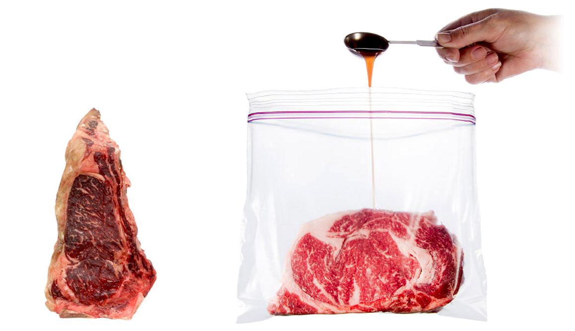 漬け込むだけでお肉がエイジングしてしまう「魔法のソース」が登場