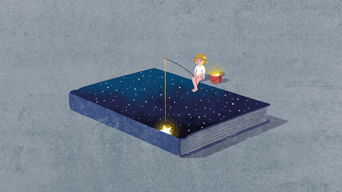 本が好きだった自分を思い出す、ノスタルジックなイラストたち
