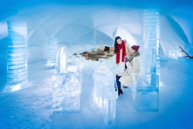 星野リゾートが提案する、氷の露天風呂「アイスインフィニティ」