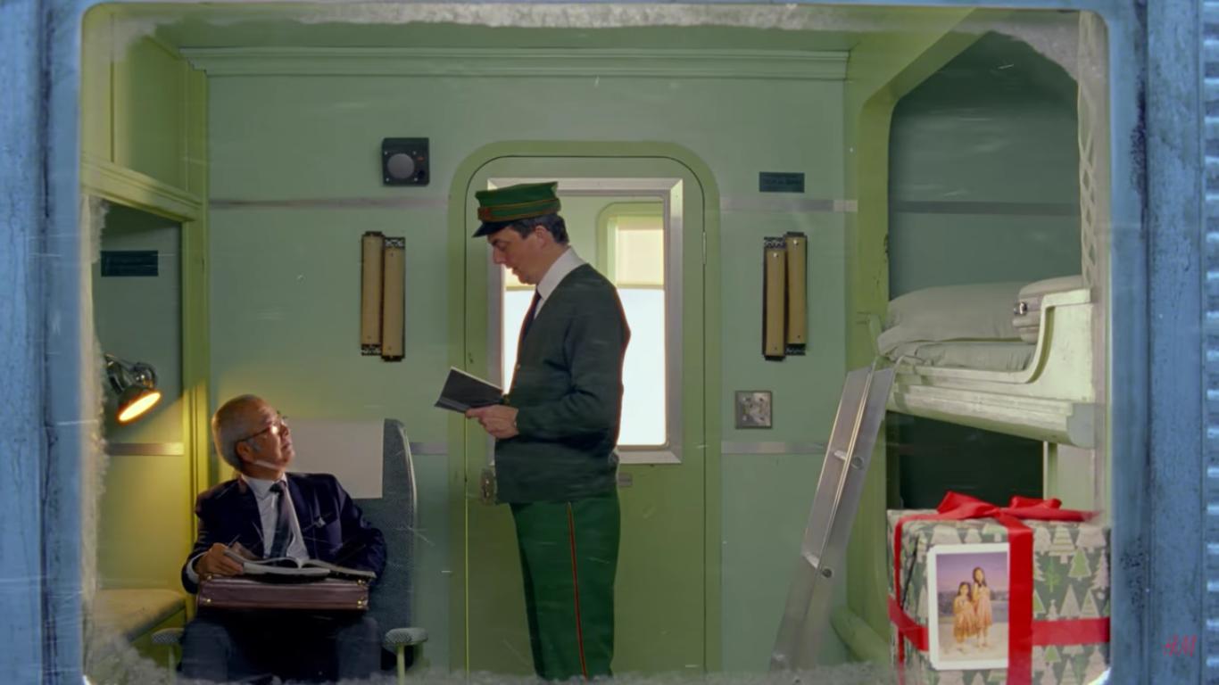 電車のなかのクリスマス。ウェス・アンダーソン監督のショートフィルムにほっこり