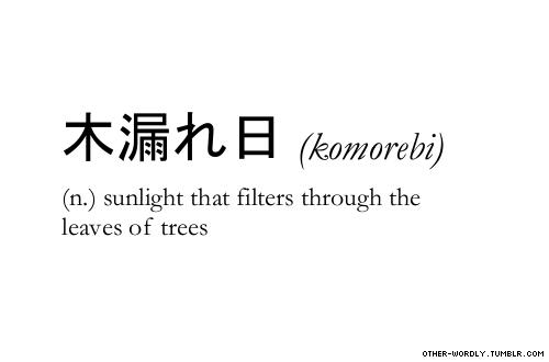 正しく英語に訳せない単語を集めたウェブサイト「Other Wordly」