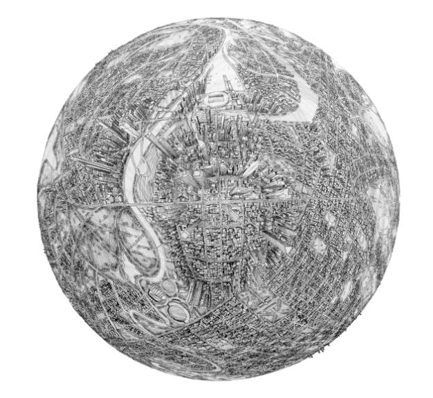 世界の都市を「球体マップ」で旅してみたい