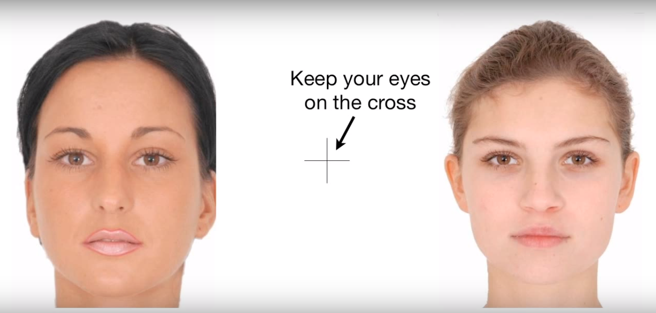 【不思議な動画】見つめていると、女性の顔が「バケモノ」に見えてくる・・・