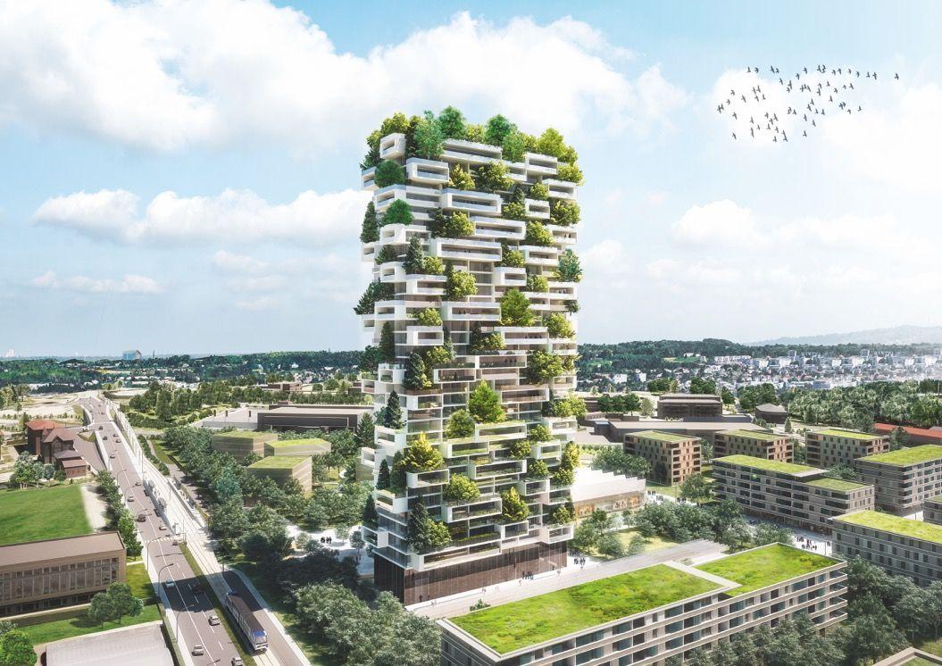 スイスの「緑あふれる」高層マンションが素敵すぎる・・・
