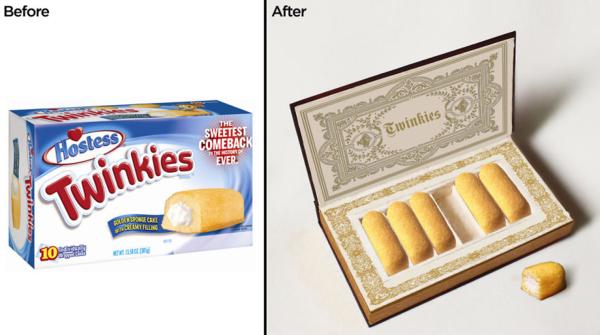 ジャンクな「お菓子」のパッケージを高級っぽくしてみた。