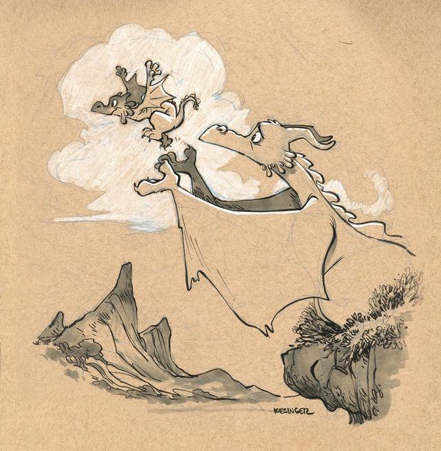 「怪物」のイメージを吹き飛ばす。親しみやすいドラゴンのイラスト