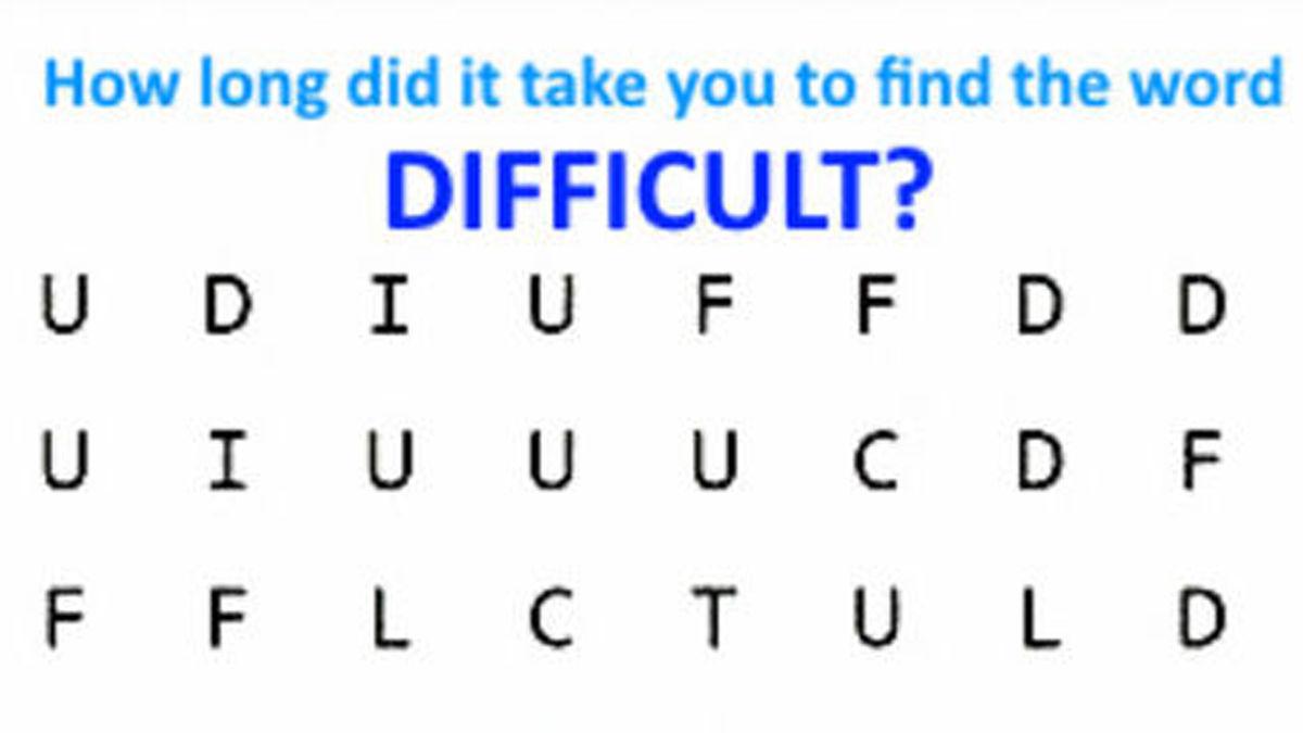 【10秒脳トレ】隠れた単語「DIFFICULT」を見つけて!