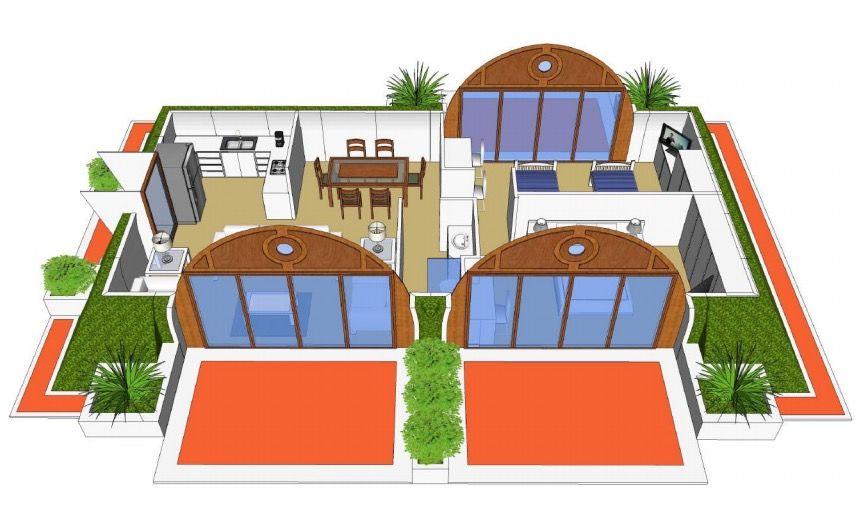 まるで「ホビット」の世界。3日間で建てられる、エコでグリーンな家
