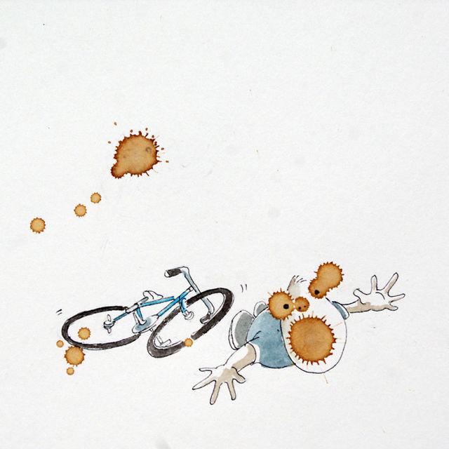 「コーヒーと自転車」への愛情を感じるホッと温まるイラスト