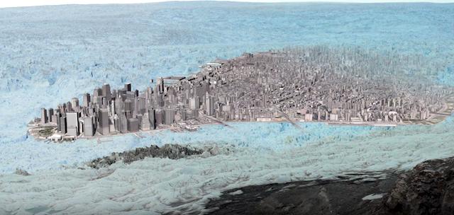 氷河崩壊の瞬間を捉えた迫力の映像!再発の可能性も?(グリーンランド)