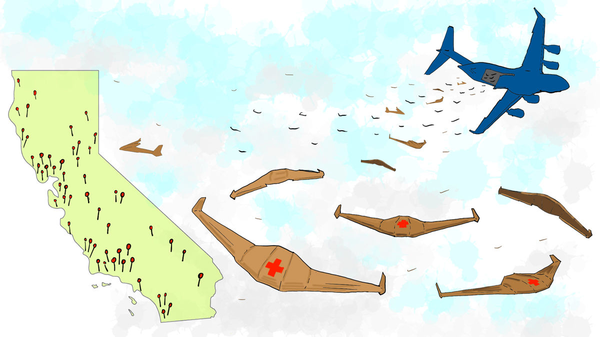 人の命を助け、そのまま消えてゆく。さすらいの「紙飛行機」