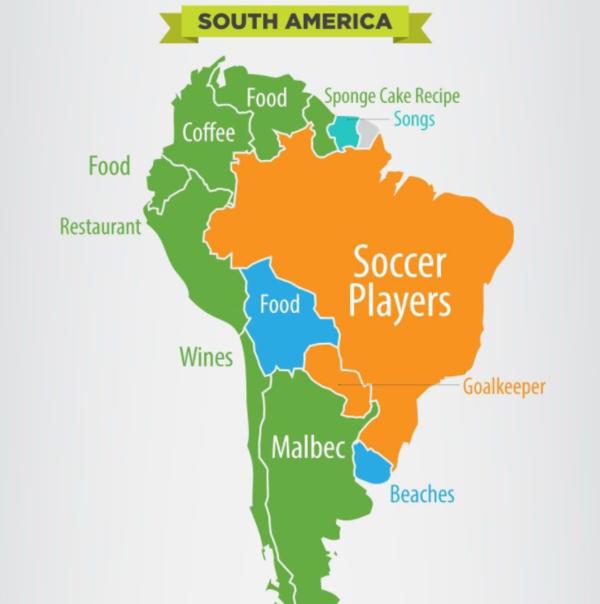 例:「ブラジル サッカー選手」。世界は、国名とあわせて何をググっているのか?