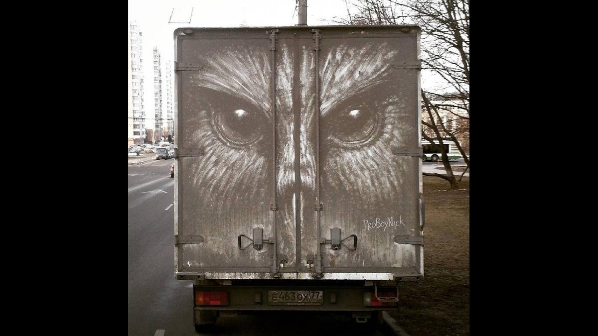 画像 洗車するのちょっと待った!「汚れ」で描くアーティスト