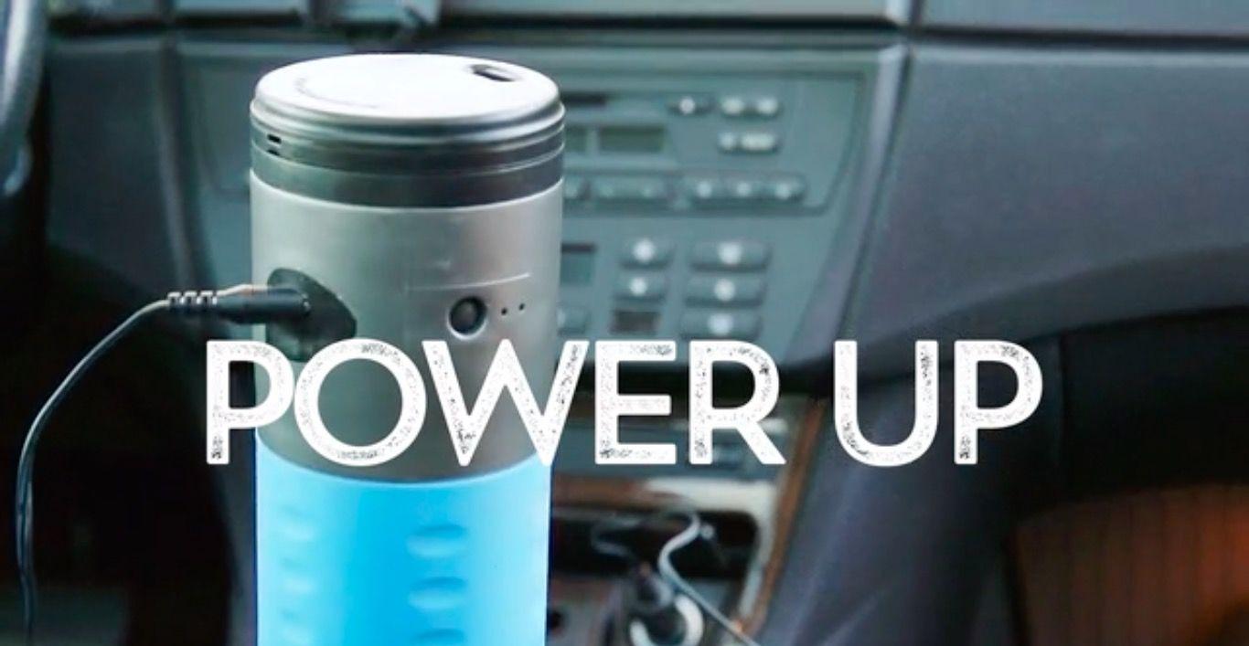 ボタンを押すだけで、できたてのコーヒーが飲めるマグ「mojoe」
