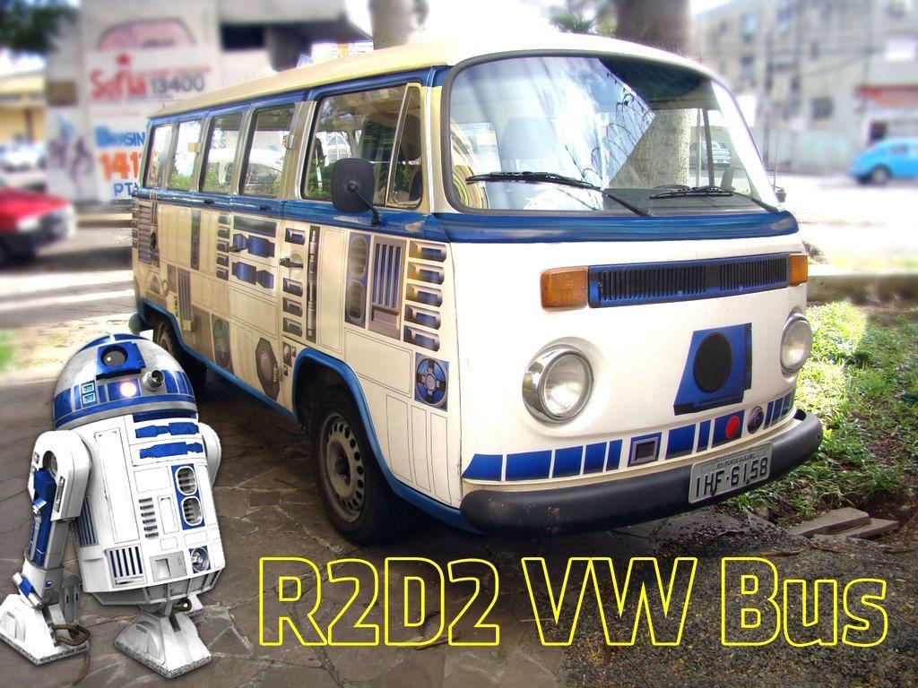 R2-D2が好きすぎる男性 ワーゲンバスをDIYで大改造!
